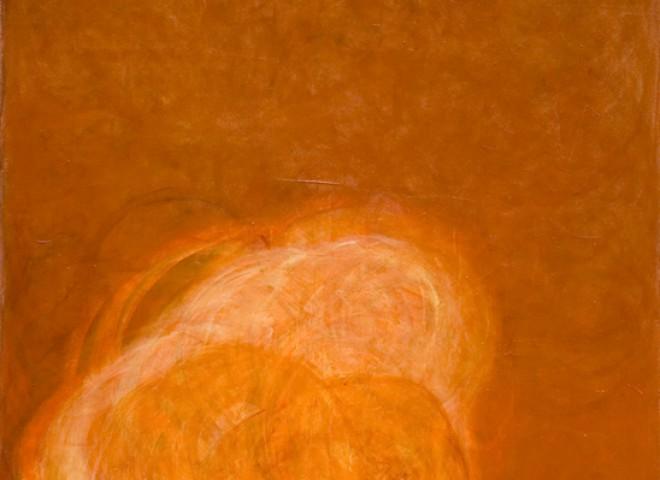 caramel glaze on cream, 58″ x 64″