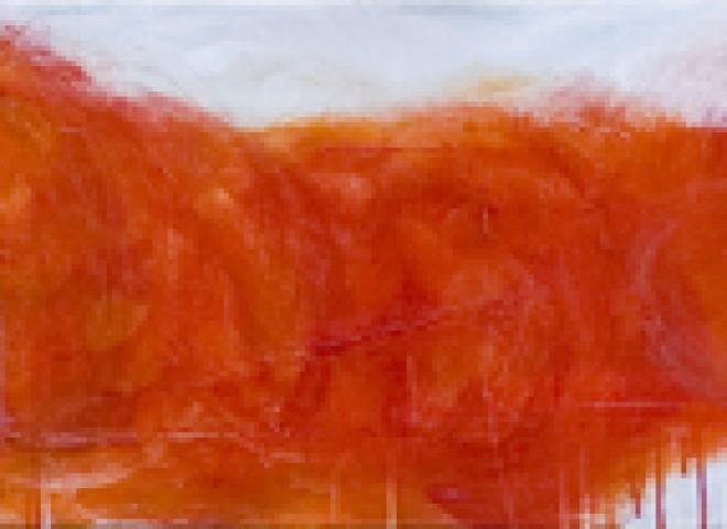 red and smoke gray, 10″ x 74″
