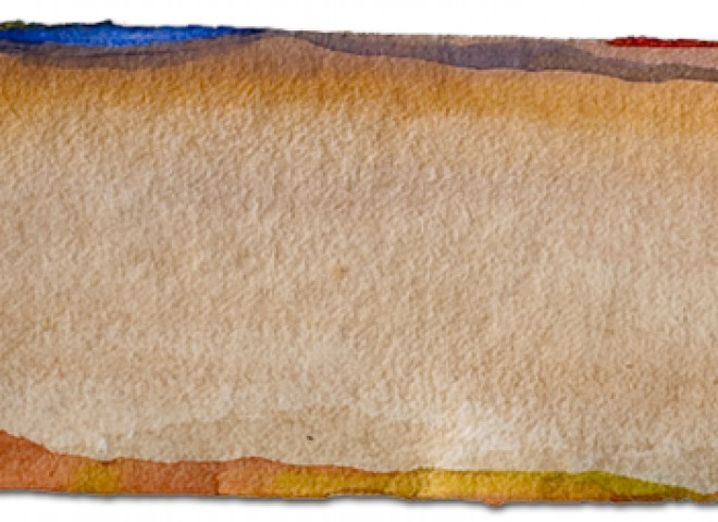 untitled 1, acrylic on watercolor paper, 11″ x 30″