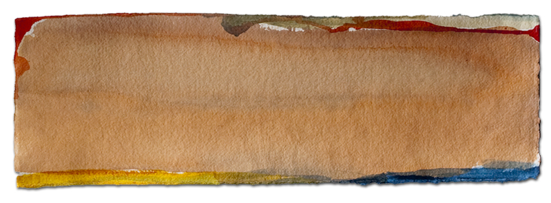 untitled 2, acrylic on paper, 11″ x 30″