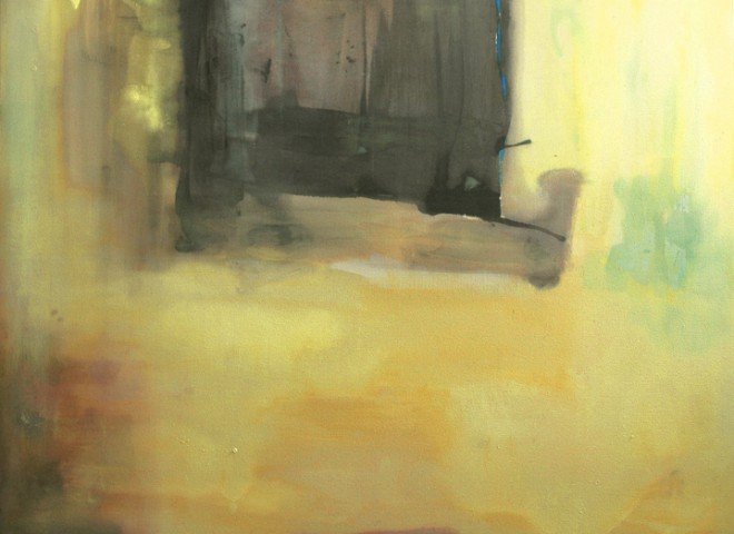 untitled, yellow and plum, 60″ x 72″