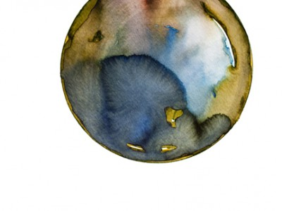 Spheres 1. 12″ x 16″ Watercolor on paper