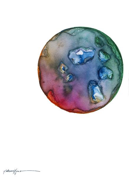 Spheres 21. 12″ x 16″ Watercolor on paper