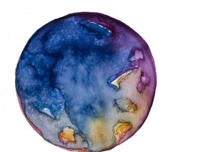 Spheres 22. 12″ x 16″ Watercolor on paper
