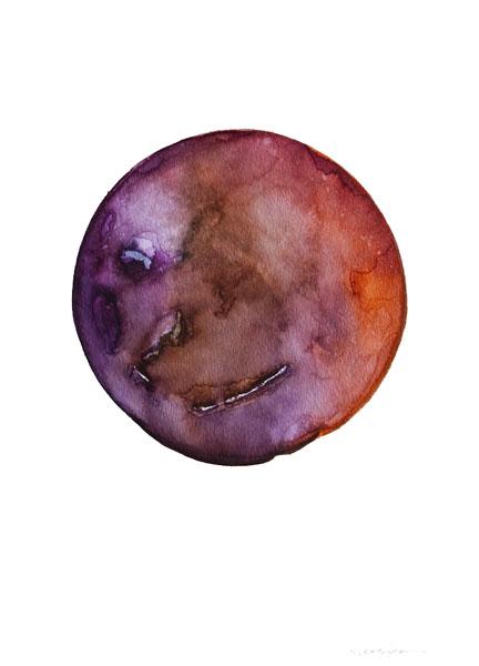 Spheres 23. 12″ x 16″ Watercolor on paper