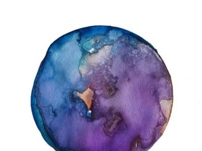 Spheres 24. 12″ x 16″ Watercolor on paper