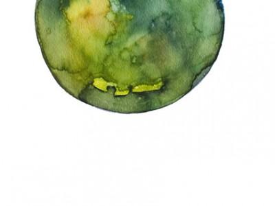 Spheres 25. 12″ x 16″ Watercolor on paper