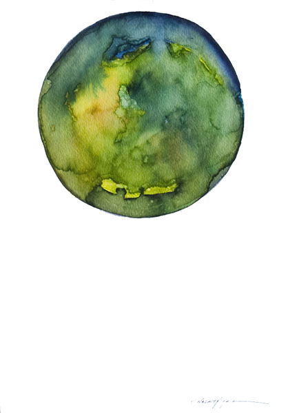 Spheres 25. 12″ x 16″ Watercolor on paper