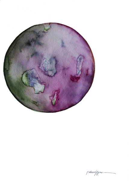 Spheres 27. 12″ x 16″ Watercolor on paper