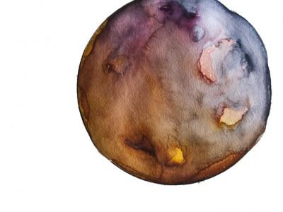 Spheres 28. 12″ x 16″ Watercolor on paper