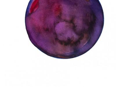 Spheres 3. 12″ x 16″ Watercolor on paper