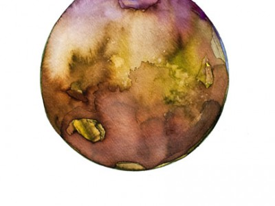 Spheres 5. 12″ x 16″ Watercolor on paper