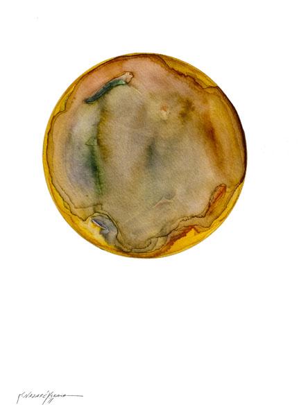 Spheres 6. 12″ x 16″ Watercolor on paper