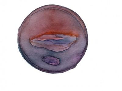 Kristina Nazarevskaia, Spheres 11. Japanese watercolor on waterc