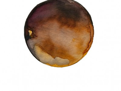 Kristina Nazarevskaia, Spheres 13. Japanese watercolor on waterc