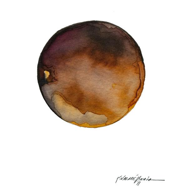 Kristina Nazarevskaia, Spheres 13. Japanese watercolor on waterc