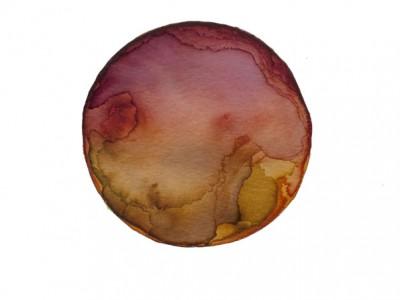Kristina Nazarevskaia, Spheres 14. Japanese watercolor on waterc
