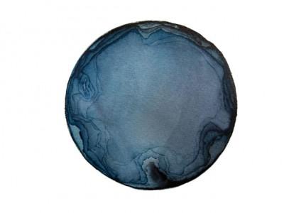 Kristina Nazarevskaia, Spheres 16. Japanese watercolor on waterc
