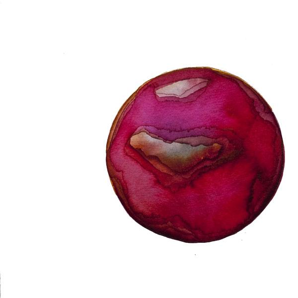 Kristina Nazarevskaia, Spheres 18. Japanese watercolor on waterc