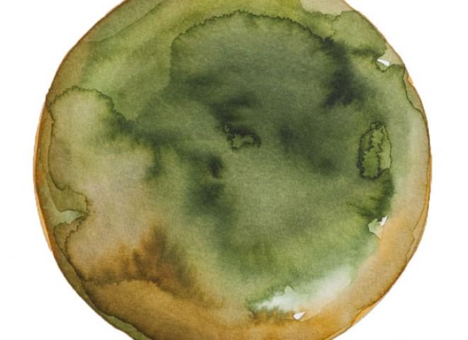 Spheres 29. 6″ x 6″ Watercolor on paper