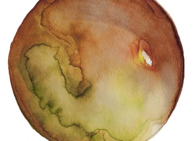 Spheres 30. 6″ x 6″ Watercolor on paper