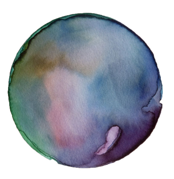 Spheres 31. 6″x6″ Watercolor on paper