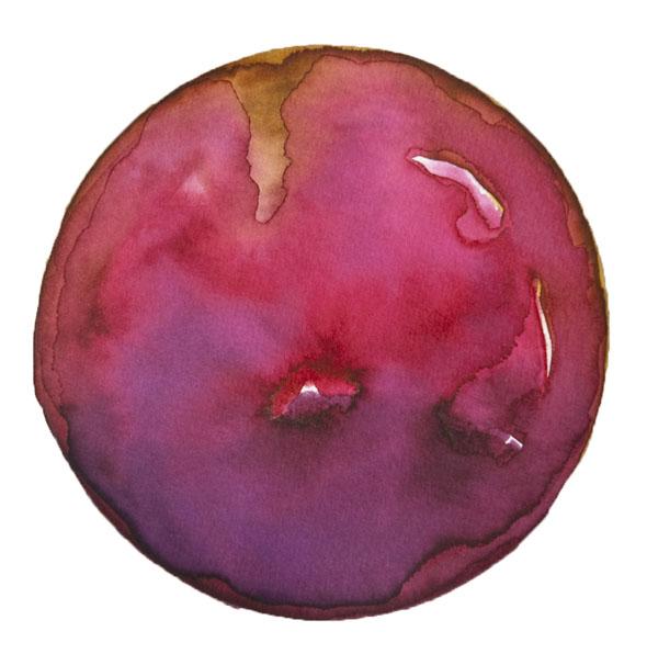 Spheres 34. 6″x 6″ Watercolor on paper