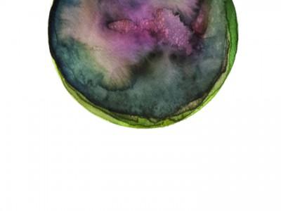 Spheres 7. 12″ x 16″ Watercolor on paper